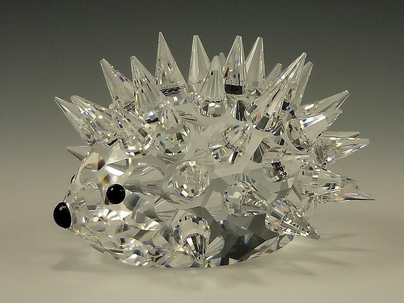 Figuras de cristal figura swarovski 013265 erizo mediano - Figuras de cristal swarovski ...