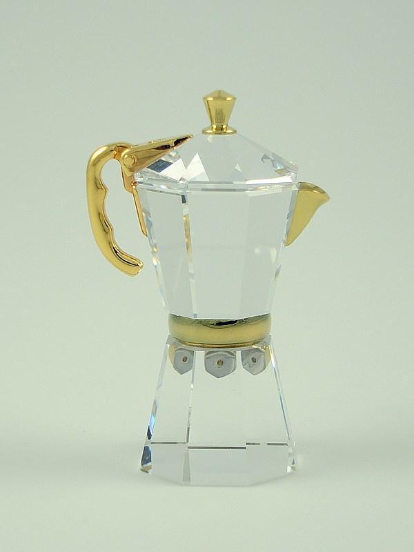 Figuras de cristal figura swarovski 268624 cafetera - Figuras de cristal swarovski ...