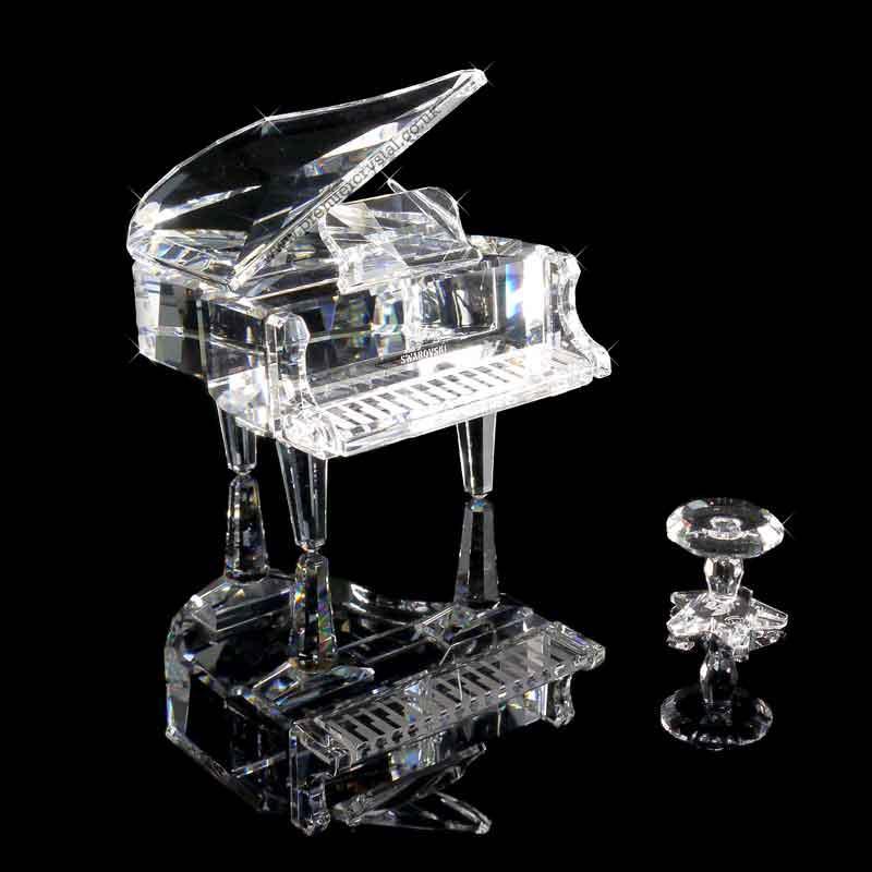 Figuras de cristal figura swarovski 174506 piano de cola - Figuras de cristal swarovski ...