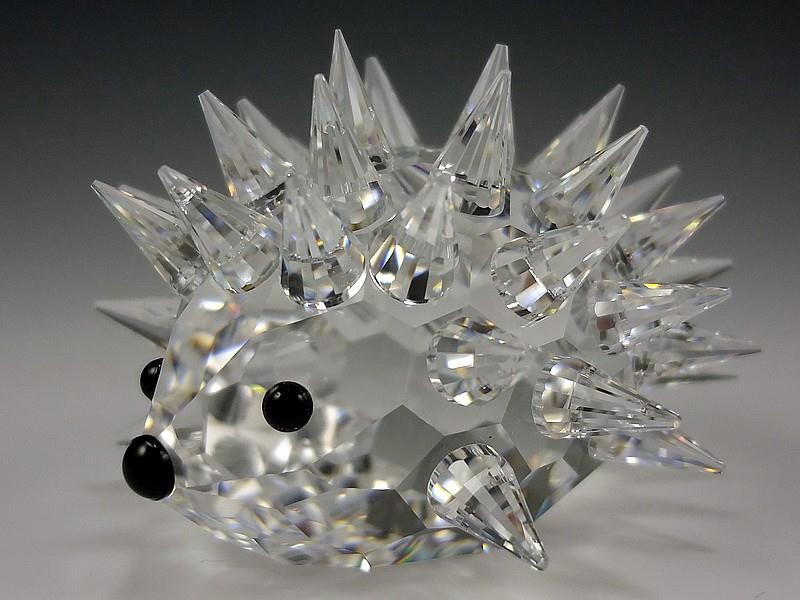 Figuras de cristal figura swarovski 013989 erizo peque o - Figuras de cristal swarovski ...