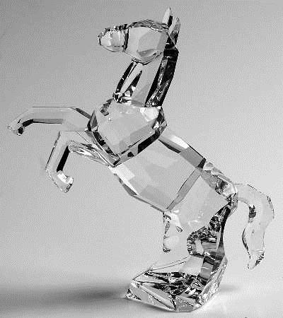 Figuras de cristal figura swarovski 660218 the horse - Figuras de cristal swarovski ...