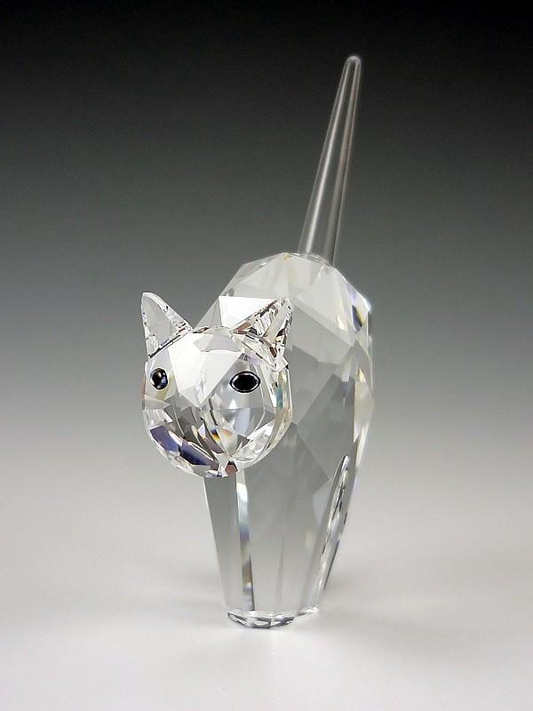 Figuras de cristal figura swarovski 198241 gato en pie - Figuras de cristal swarovski ...