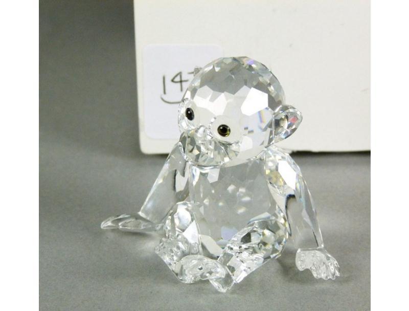 Figuras de cristal figura swaroski 221625 chimpancee - Figuras de cristal swarovski ...