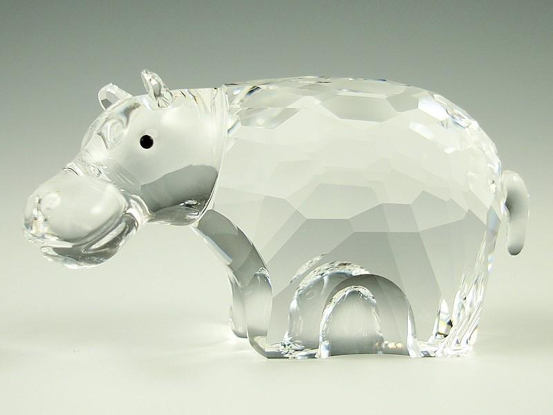 Figuras de cristal figura swarovski 622940 hipopotamo - Figuras de cristal swarovski ...