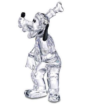 Figuras de cristal figura swarovski 690716 goofy silver - Figuras de cristal swarovski ...